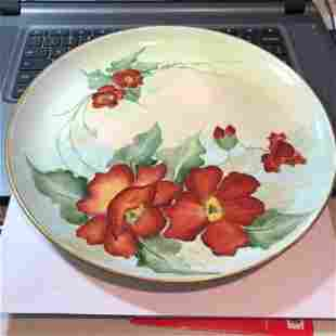 """Vintage M Goldy Hand Painted Prototype Dinner Plate 10"""""""