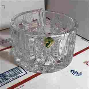 Waterford Crystal Round Bowl w/Bow, Heart, Wheat Design