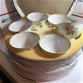11-Vtg Regal China Belle Rose Footed Coffee/Tea Cups &.
