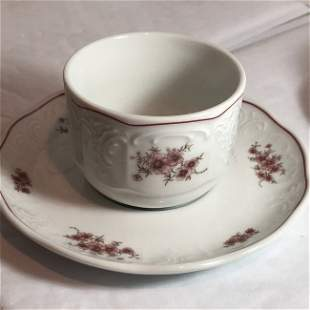 """Austrian Lilien Cup & Saucer Set Made for """"The Manor"""".."""