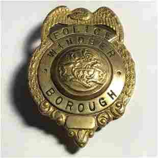 Vintage Windber, Pennsylvania Borough Police Badge...