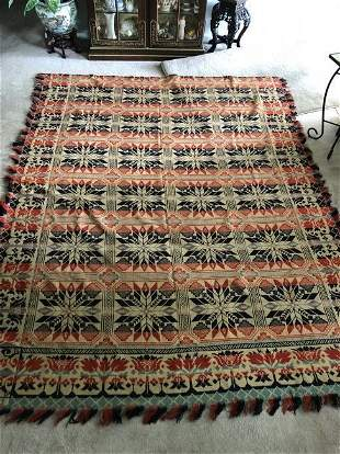 Vintage Large Initialed (G. CH. M) Throw Blanket/Bed...