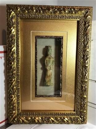 Scarce Chinese Carved Jade/Jadeite Figurine Encased...