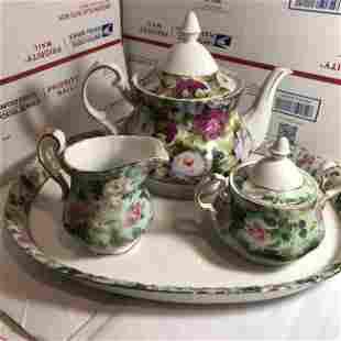 Porcelain Treasures Designed by Betty Platner Tea Set..