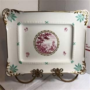 Vintage Italian Ceramic Serving Platter 10.5in x 13in