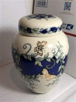 "Lenox Butterflies in Summer Porcelain Ginger Jar 7.50"""