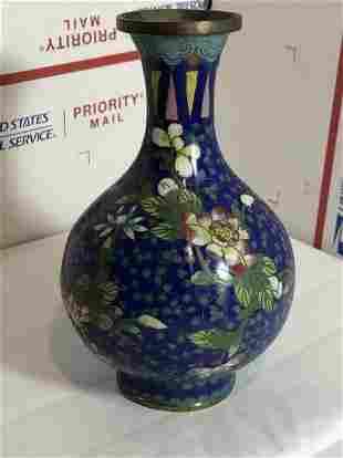 Republic Period 20th Century Chinese Cloisonne Vase