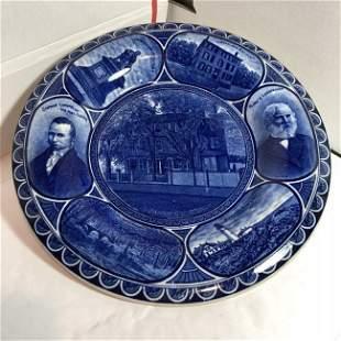 Rowland/Marsellus Staffordshire Henry Longfellow Plate.