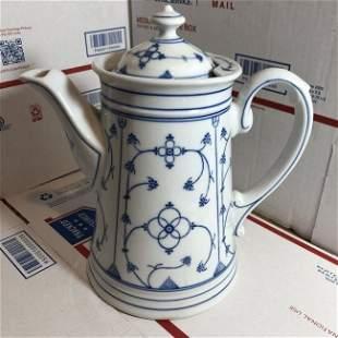 Vtg Scarce Marked Reinecke 1796 Coffee Pot Strawflower.