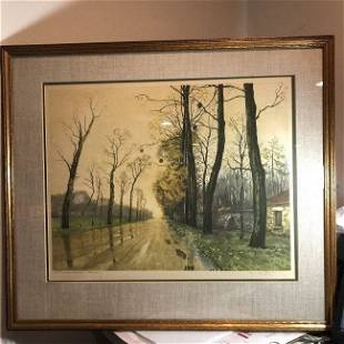 Paris Etching Society NY USA, Sidney Z. Lucas Etching..