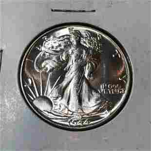 1944-P Choice BU Condition Walking Liberty Silver 50c.