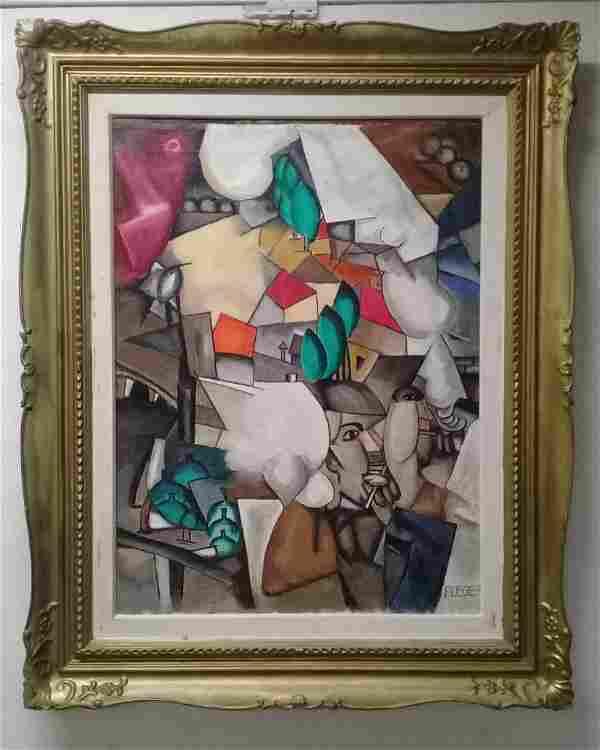 Fernand Leger (1881 - 1955) Cubist Oil canvas - Signed