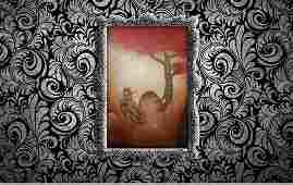 Antique Rayism Máster Tilsa Tsuchiya Oil Canvas RARE