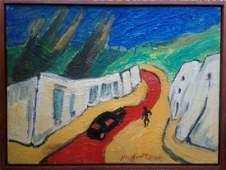 Peruvian - American David Herskovitz - Oil Canvas