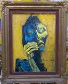 Máster Oswaldo Guayasamin - Acrylic painting
