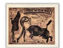 Les Banderilles - Linocut After Pablo Picasso