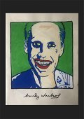 Andy Warhol Mixed Media Drawing In the Style of