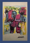 Jean-Michel Basquiat Mixed Media Drawing In theStyle of