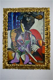 Pablo Picasso Oil On Canvas In the Style of