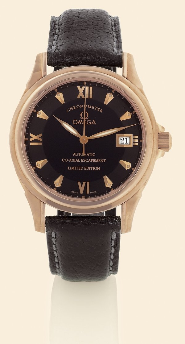 "23: Omega, ""DeVille - Co-Axial"",18K pink gold."