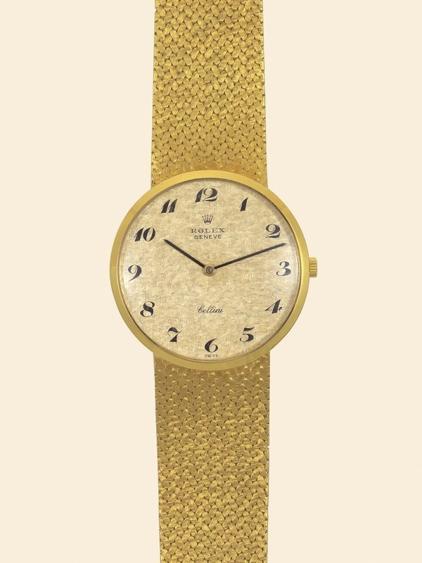 16: Rolex, Cellini, Ref. 3755. 18K yellow gold