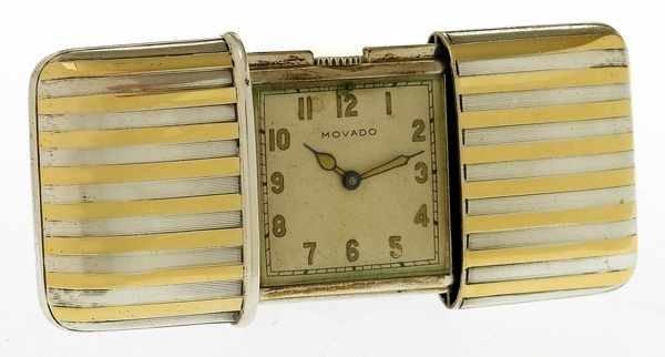 1: Movado Ermeto Silver Recatngular purse watch