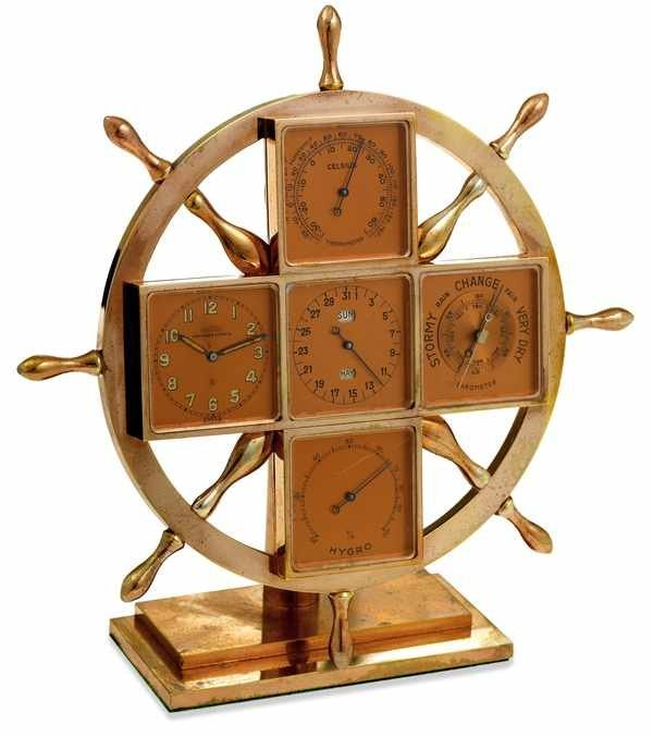 3: Angelus Abercrombie & Fitch 8 Day Desk Clock