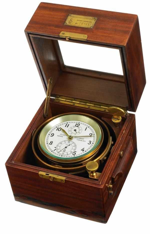 4: Wempe Chronometerwerke Marine Chronometer Box
