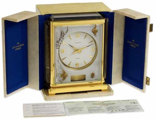 5: Jaeger LeCoulter Atmos Clock 5810 Aquarium White