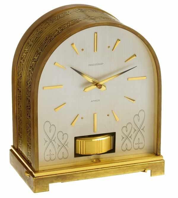 7: Jaeger LeCoultre Atmos Clock Borne Domed Scrolls