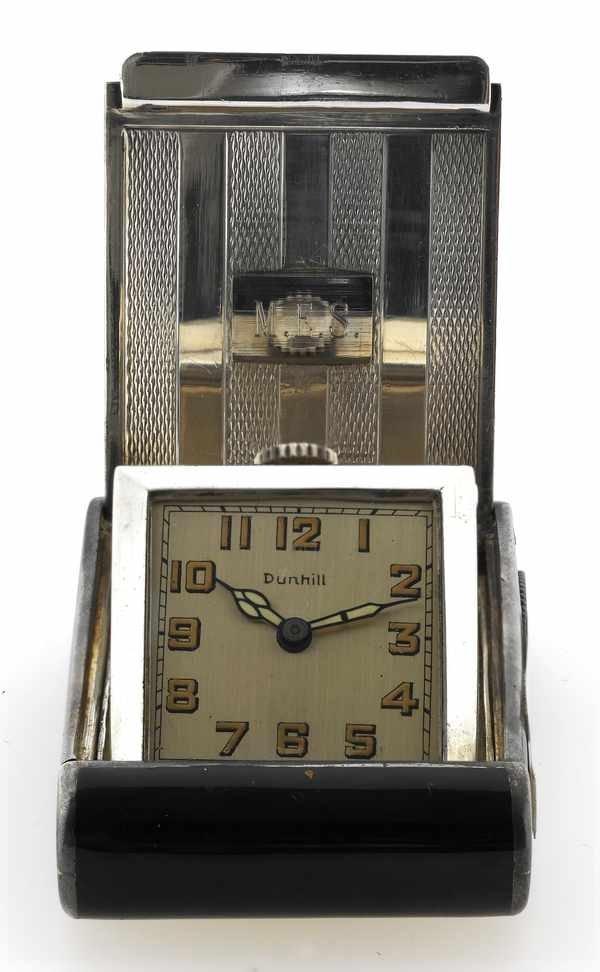 11: Dunhill Vintage Silver Purse Watch Enamel 1930s