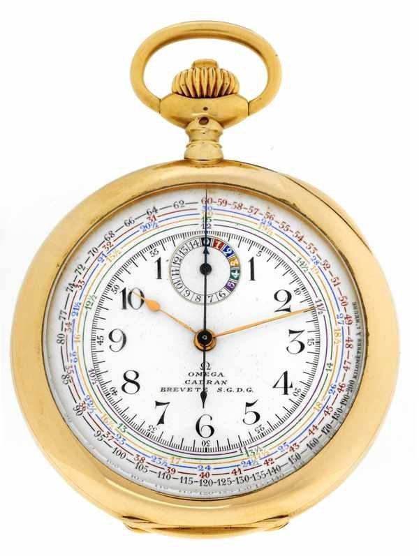 13: Omega Cadran Brevete Pocketwatch ca 1910 18K