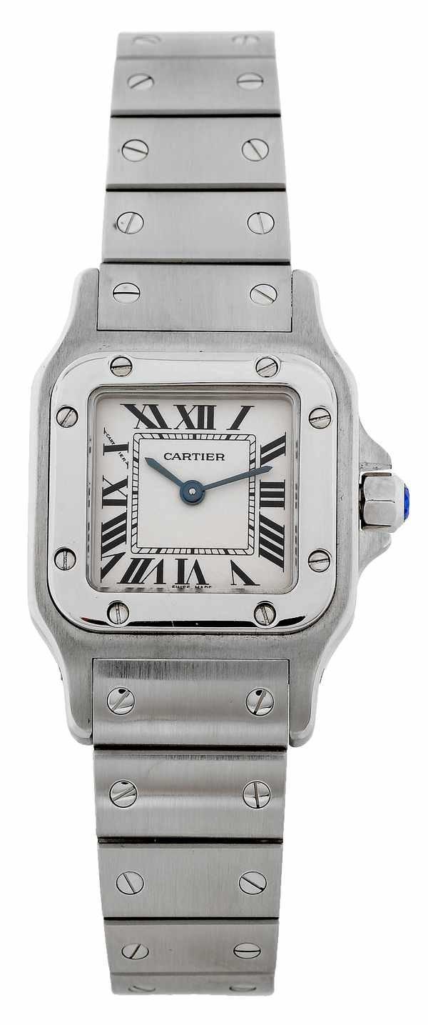 344: Cartier Santos 1565 Ladies Quartz Steel