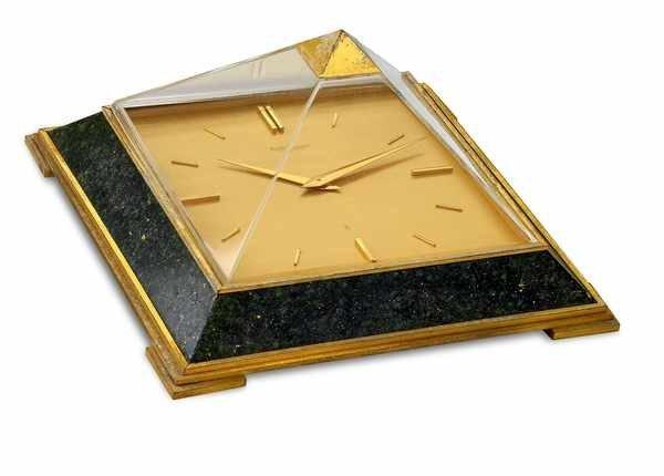 7: Jaeger LeCoultre Pyramid Lapis Desk Clock ca1960