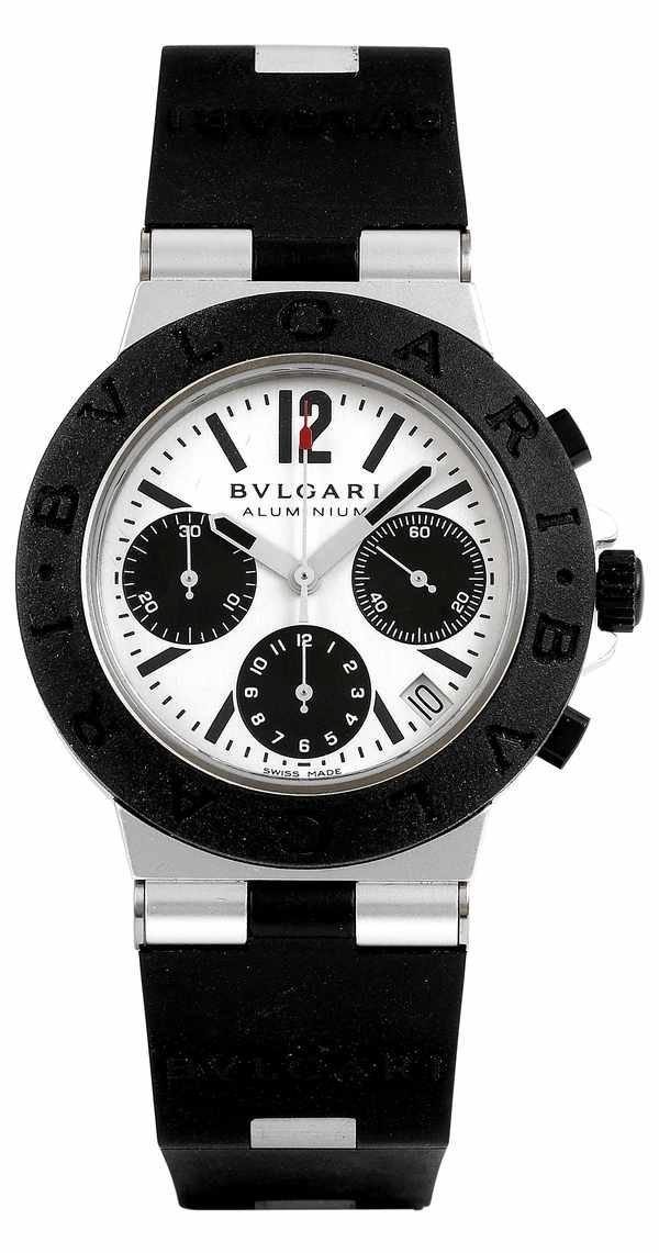 11: Bulgari Aluminum & Rubber Automatic Chronograph