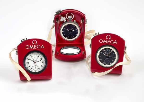 23: Omega Olympic Set of 3 Chronograph Pocketwatches
