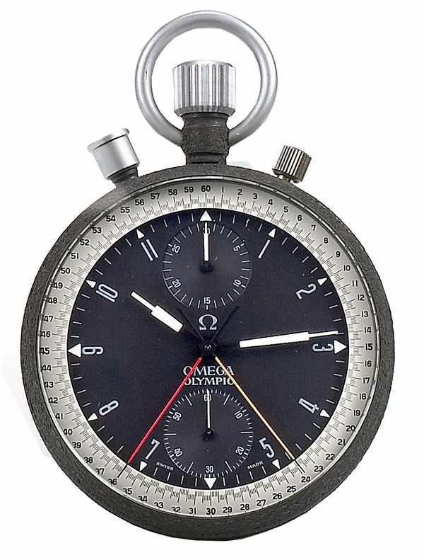 24: Omega Olympic Chronograph Pocketwatch ref 1155