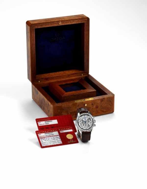 44: Omega Speedmaster Skeleton Chronograph Platinum