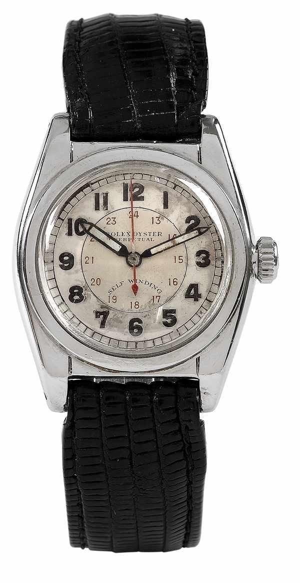 54: Rolex Bubbleback Ref 2940 Steel ca 1940s