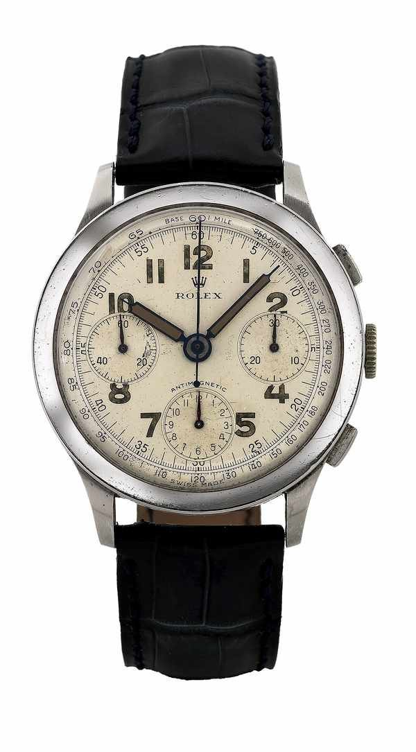 63: Rolex Antimagnetic Chronograph 3330 Steel 1940s