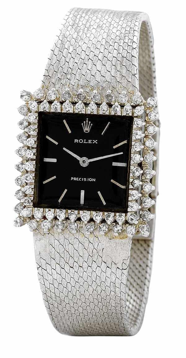 168: Rolex Precision 2611 Ladies Diamonds Steel 1950s
