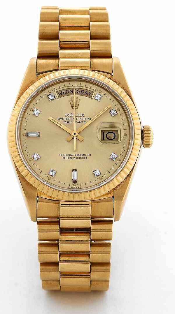 176: Rolex Day-Date President 18038 Diamond Dial 18K