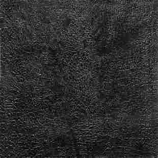 """Alberto Burri """"Cretto nero G"""" 1971"""
