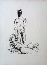 "Renato Guttuso ""The lovers"""