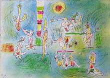 "Roberto Matta ""Cries of cheerful people"" 1984"