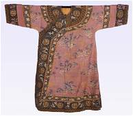 CHINESE EMBROIDERY FLOWER LADY'S ROBE