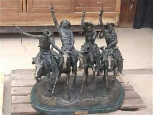 Frederick Remington Bronze Coming Thru The Rye