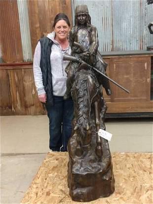 Bronze Mountain Man Sculpture