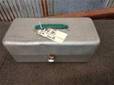 Vintage Kennedy tackle box with 45 vintage fishing