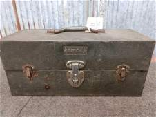 Vintage Kennedy tackle box and 54 vintage fishing lures